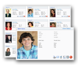 searchable casting software database